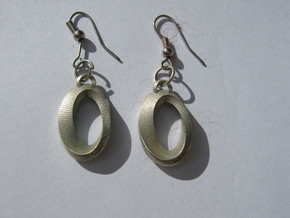 Moebius Earrings in Polished Silver