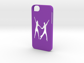 Iphone 5/5s Latin dance paso doble case  in Purple Strong & Flexible Polished