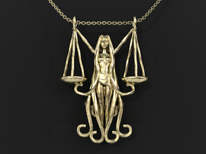 Libra Zodiac Pendant in 14k Gold Plated