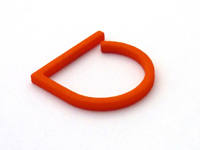 Adjustable ring. Basic model 0. in Orange Strong & Flexible Polished