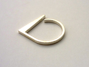 Adjustable ring. Basic model 2. in Raw Silver