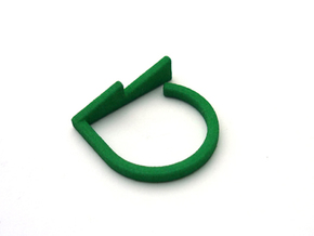 Adjustable ring. Basic model 14. in Green Strong & Flexible Polished
