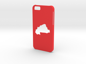 Iphone 6 Burkina Faso Case in Red Strong & Flexible Polished