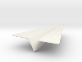 Paper Airplane 1 in White Strong & Flexible