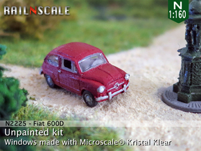 Fiat 600D (N 1:160) in Frosted Ultra Detail
