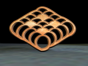 Anpatha Ripples in Polished Bronze Steel