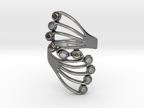 Butterfly Wing Ring Size 11 in Polished Silver
