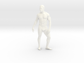 Strong male body 005 scale in 10cm in White Strong & Flexible Polished