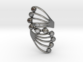 Butterfly Wing Ring Size 7 in Polished Silver