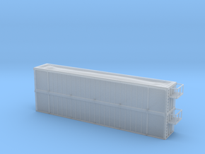Trash Gondola Double Stack 53foot - HOscale in Frosted Ultra Detail