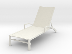 Miniature 1:24 Provence Chaise (Not Full Size) in White Strong & Flexible