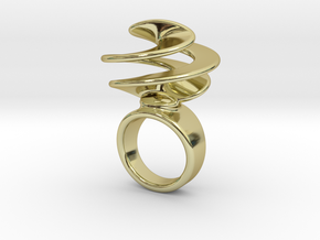 Twisted Ring 30 – Italian Size 30 in 18k Gold Plated