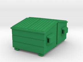 Dumpster 'O' 48:1 Scale (2) in Green Strong & Flexible Polished