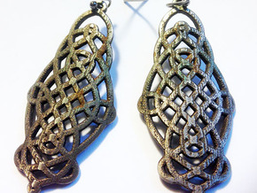 Celtic Knot Earrings in Raw Bronze