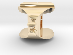 I�U Shape 2 - View 1 in 14k Gold Plated