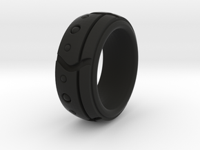 DOT 2 RING SIZE 10 in Black Strong & Flexible