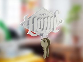 Home key-holder in White Strong & Flexible