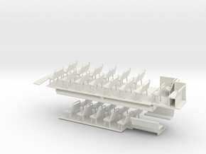1:43 London Transport STL11 -Floors & Seats in White Strong & Flexible