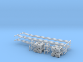 N 53' Container Chassis 4.Pack in Frosted Ultra Detail