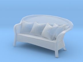Miniature 1:48 Wicker Sofa in Frosted Ultra Detail