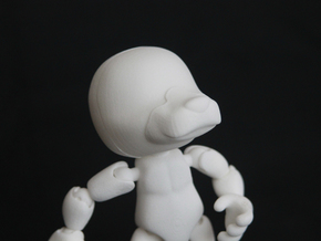CAP figure Glue-on (dog nose) in White Strong & Flexible