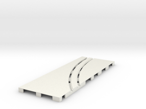 P-65stp-straight-lh-curve-outer-145r-75-pl-1a in White Strong & Flexible