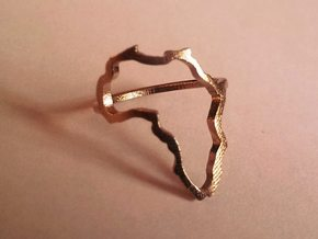 Africa Ring size 7.5/P in Raw Bronze