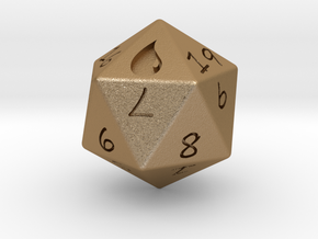 D20 Island in Matte Gold Steel