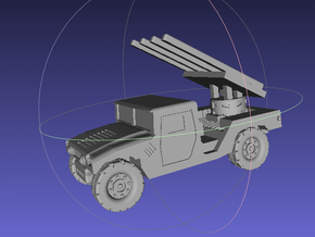 1/144 Humvee SL-AMRAAM launch position (Single Pac in White Strong & Flexible Polished