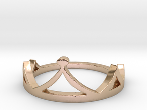 Crown Ring in 14k Rose Gold Plated