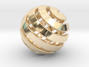 Ball-14-3 in 14K Gold
