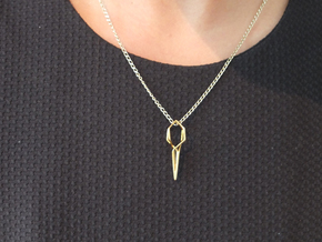 """""""A Line"""" Dancing TWINS pendant in 18K Gold Plated"""