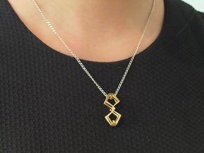 """""""HEAD TO HEAD"""" Double Headed, TWNS pendant in 18K Gold Plated"""