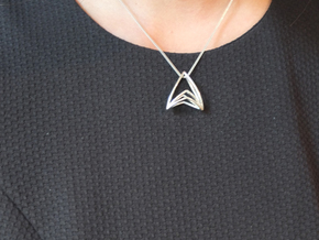 Silk Hand No.099 ,Pendant in Polished Silver