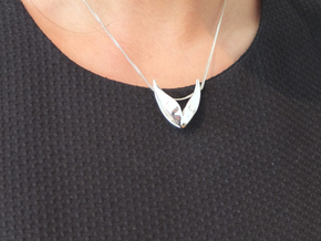 """Lonely Wings"" W001T Twins in Polished Silver"