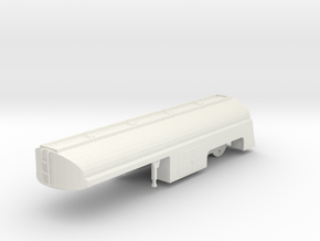 "1/50th Fruehauf 33' ""Duel' Tanker Trailer in White Strong & Flexible"