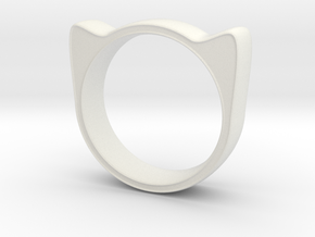Meow ring 17mm in White Strong & Flexible