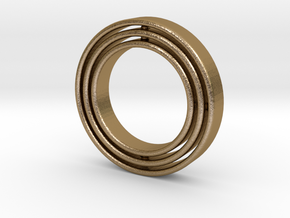 Ring Gyroscope in Polished Gold Steel