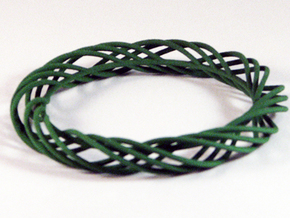 Twist Bangle C02L in Green Strong & Flexible Polished