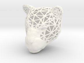 Panther Trophy Wireframe 80mm in White Strong & Flexible Polished