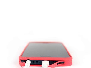 Brute with plugs for iPhone 5 in Blue Strong & Flexible Polished