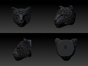 Panther Trophy Wireframe 80mm in Black Strong & Flexible