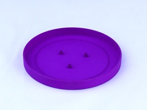 TriCyclone Vape Stand: Bottom Round Plate in Purple Strong & Flexible Polished