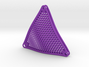 Bikini Plate Pair (Perforated Pattern) in Purple Strong & Flexible Polished