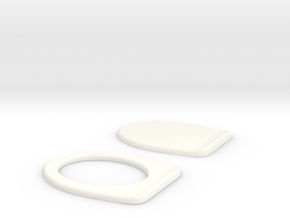 Miniature Toilet Seat B 1/12 in White Strong & Flexible Polished