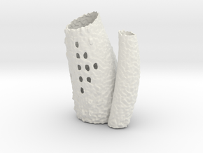 Porifera Vase / Holder - Small in White Strong & Flexible