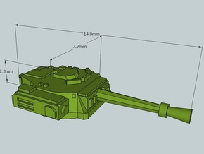 6mm Sci-Fi IFV Turret (x12) in Frosted Ultra Detail