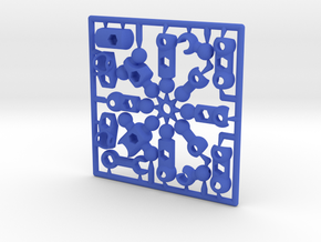 ModiBot Myke- Microfigure frame in Blue Strong & Flexible Polished