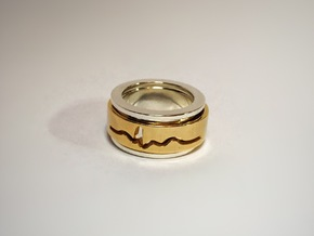 ECG spinner ring (spinner part 3 of 3) in 14k Gold Plated