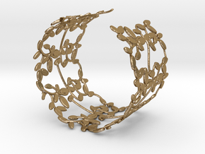 Leaves Bracelet in Polished Gold Steel
